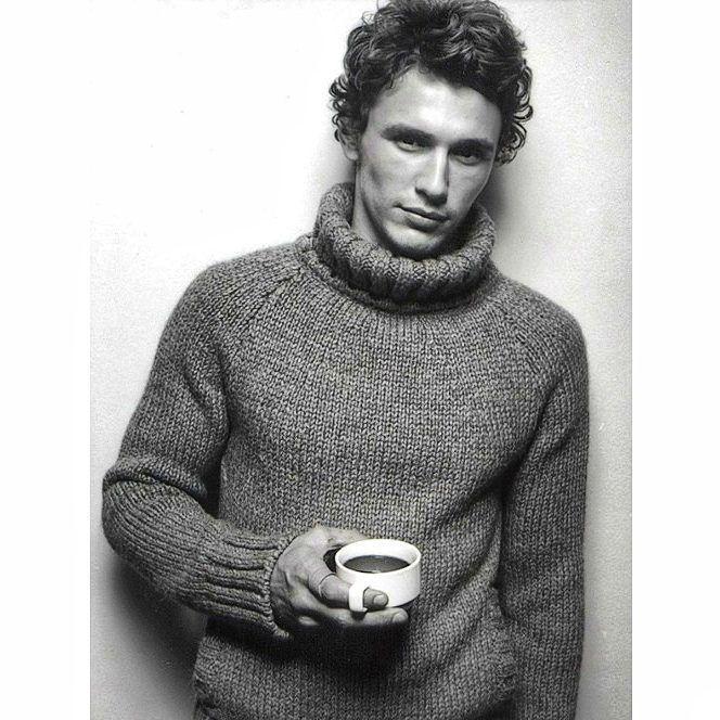 566 отметок «Нравится», 8 комментариев — Irina Anikeeva (@irmiandesign) в Instagram: «James Franco looks cozy this #mensweater_saturday. . #knitting #handknitting #knitspiration…»