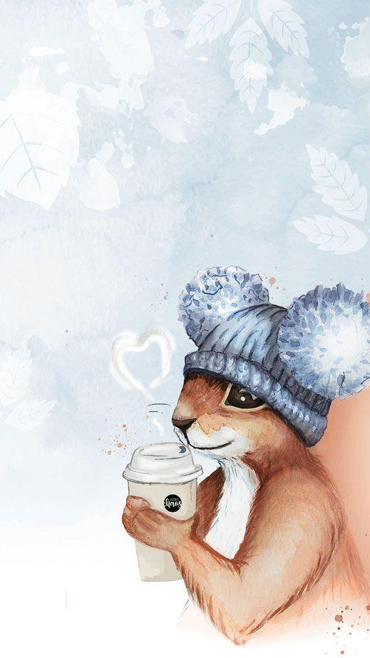 Cute Autumn Watercolor Freebie para o seu smartphone Grátis para você fazer …   – Wallpaper