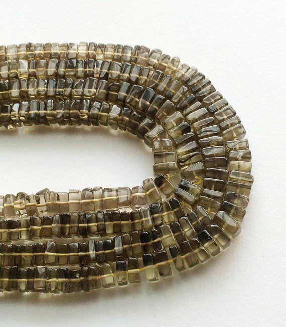 Bicolored Lemon Quartz Beads Bio Lemon Heishi Bio by gemsforjewels