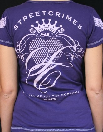 Back of our 'Romance' Tee in purple