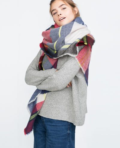 Image 2 of SOFT CHECKED SCARF from Zara