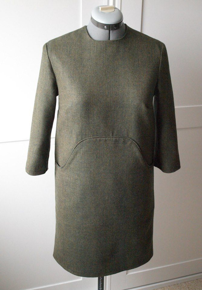 Tweed dress handmade by Susana Nakatani
