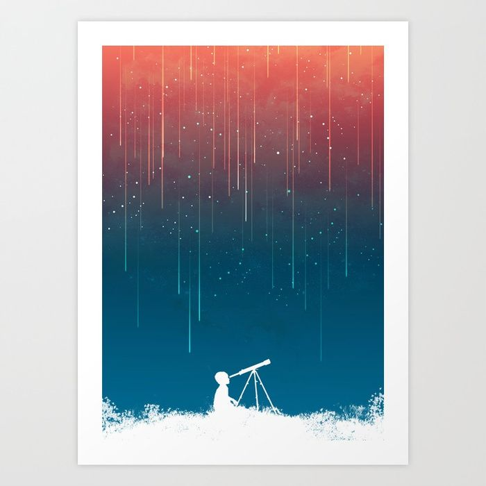 Buy Meteor Rain (light version) Art Print by budikwan. Worldwide shipping available at Society6.com. Just one of millions of high quality products available.