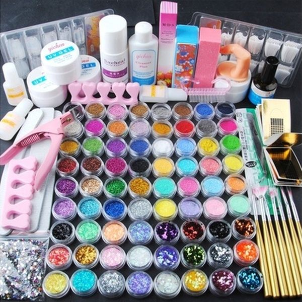 Acrylique Poudre Paillette Glitter Brosse Ongles Pince Nail Art Kit Manucuregift For Women Wish Acrylic Nail Kit Nail Art Hacks Acrylic Nail Powder