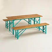 Blue Beer Garden Outdoor Dining Collection