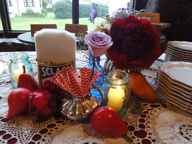 Dessert Table Styling Italian Wedding Reds Wine Rich Colors