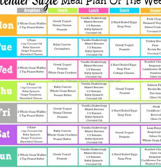 Slender Suzie 21 Day Fix Meal Plan Of The Week 1 11 16 21 Day Fix Meal Plan 21 Day Fix Meals 21 Day Fix Diet