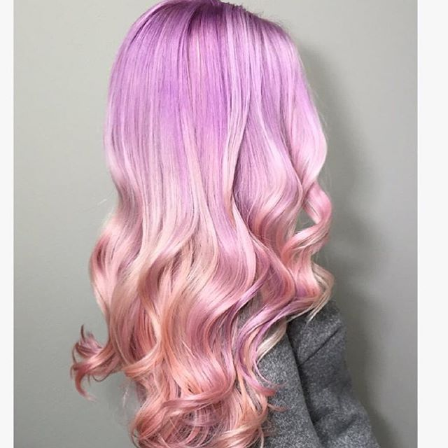 Lilac rose, pale pink and peach colormelt by @nellieduclos Nellie this color is pastel perfection