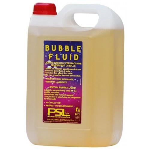 Bubble fluid:  Concentrato per la preparazione di 5L di Bubble Fluid (liquido per la produzione di bolle). Il viquido per la macchina delle bolle lo puoi trovare sul nostro sito: www.lucidiscoteca.it Contenitore da 5 kg