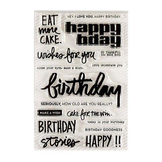 Ali Edwards Design Inc. | Birthday Stamp Set