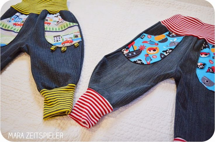 Babyhosen aus alten Jeans / Babies' pants made from old jeans / Upcycling