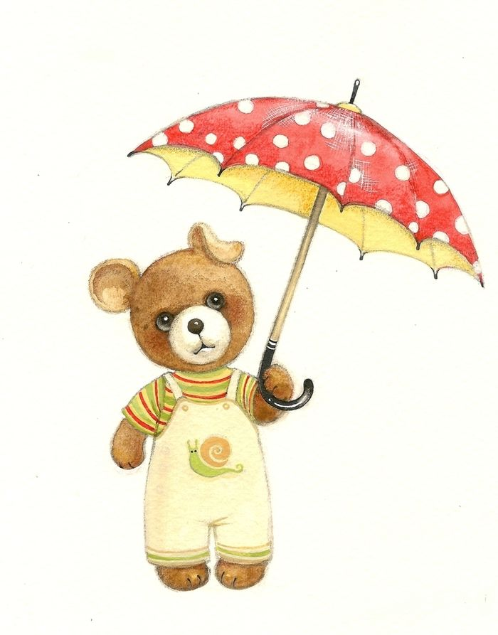 Image result for teddybears with umbrellas