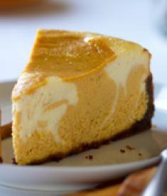 Eggnog Pumpkin Swirl Cheesecake   Horizon