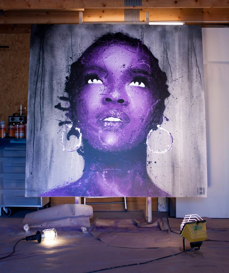Ms. Lauryn Hill Pop art painting by Halseth. www.halseth-art.com