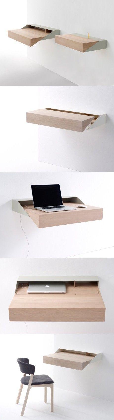 Space saving laptop table