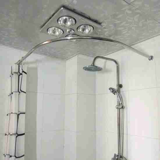 Corner Tub Shower Curtain Rod Bathroom Ideas In 2019 Shower