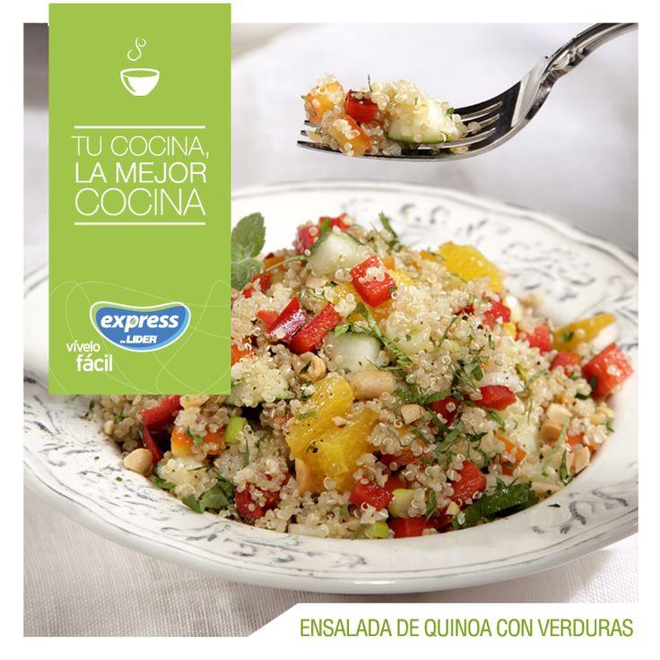 Ensalada de quinoa con verduras #Recetario #Receta #RecetarioExpress #Lider #Food #Foodporn #Quinoa #Ensalada #Verduras