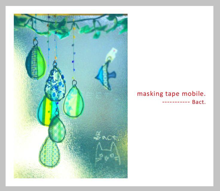 BARE FEET | masking tape mobile making マスキングテープで作ったモビール ...