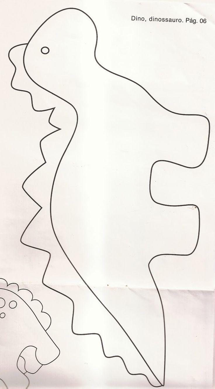 Pattern for felt dinosaur.