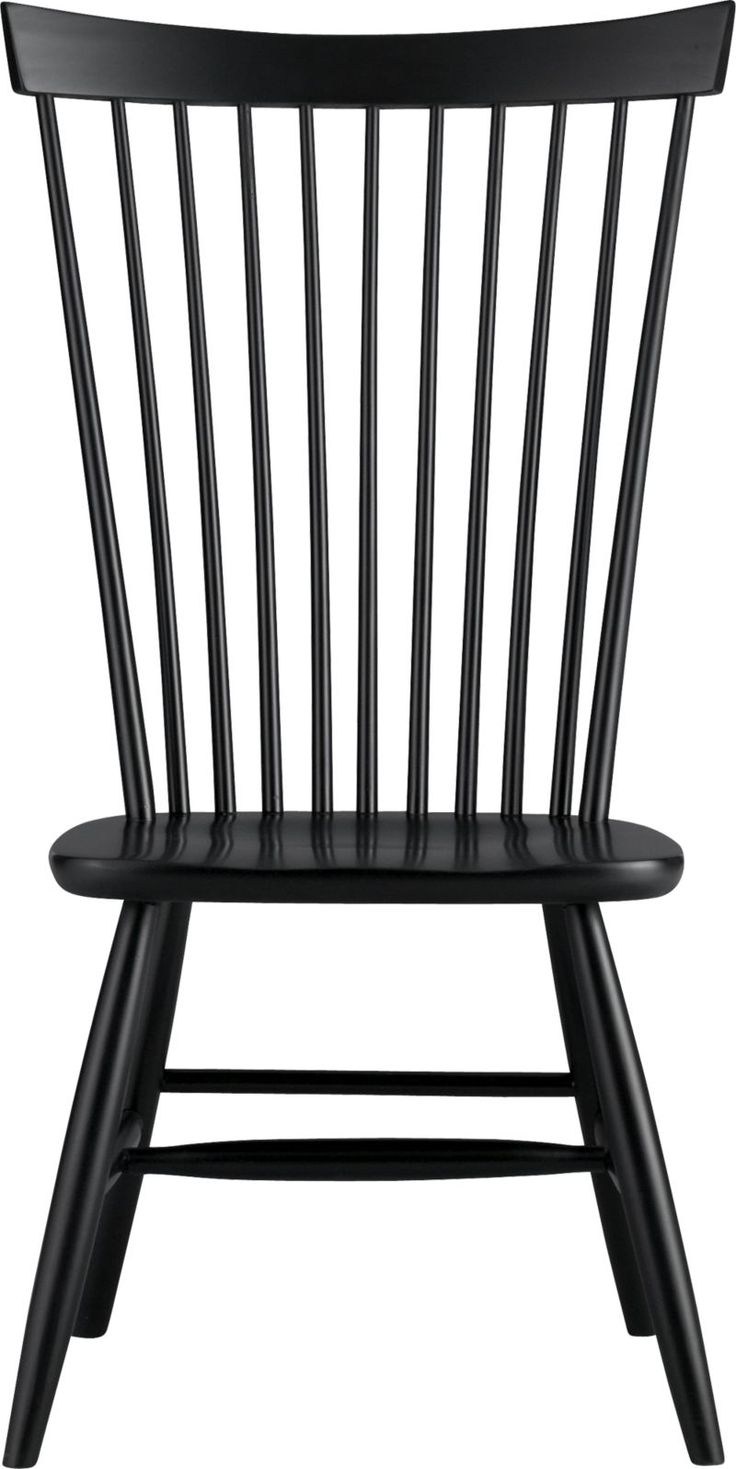 Marlow II Black Wood Dining Chair Side Chairs Chairs