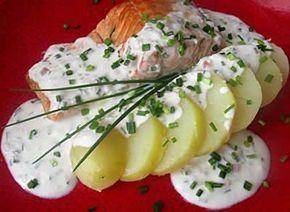 recette creme ciboulette au thermomix, un délicieuse crème à servir et déposer les pommes de terre...ou tranches de saumon...ou autres légumes