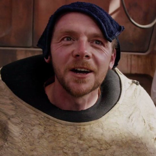 Simon Pegg Could Not Keep His Cool Around Carrie Fisher on the Star Wars Set