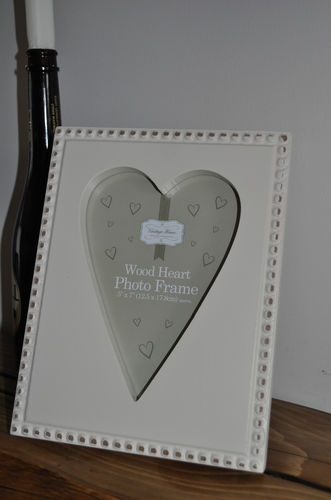 wooden PICTURE FRAME beaded WEDDING picture frames SHABBY CHIC photo frames NEW @ stores.ebay.co.uk/bellsvintageboutique