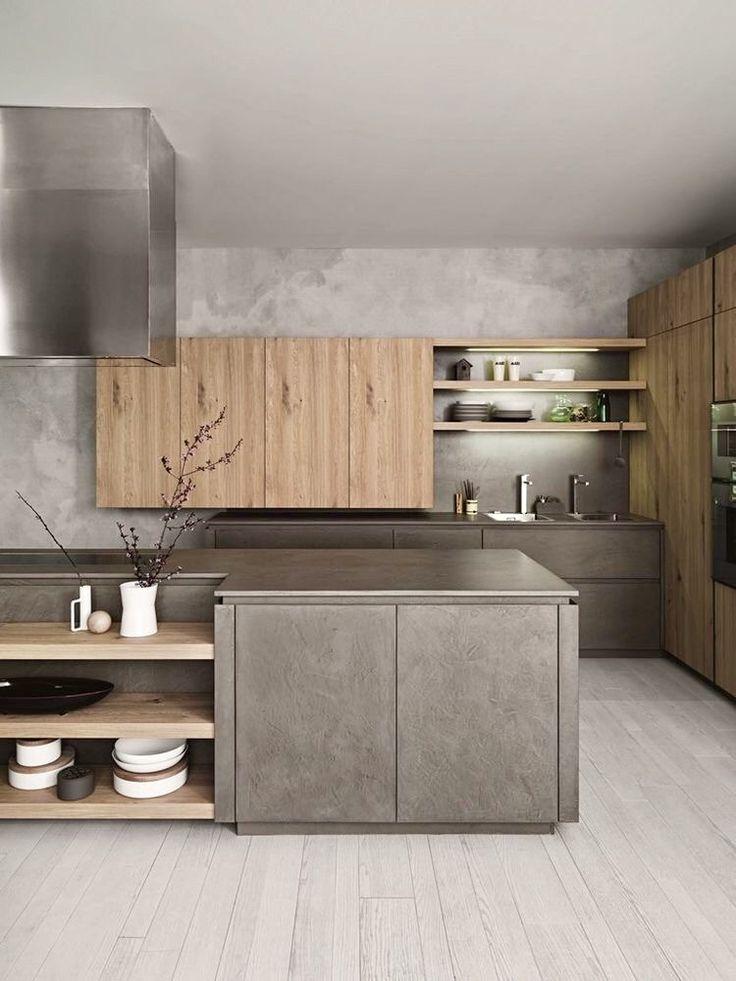 Combinando materiales en una cocina