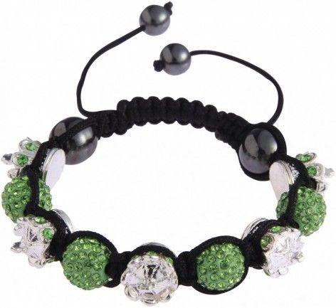 Shamballa náramek LS Fashion LSB0031 zelený - Kliknutím zobrazíte detail obrázku.
