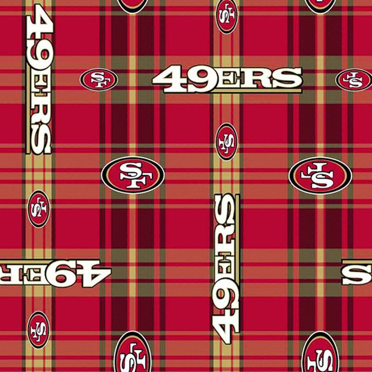 Professional NFL 49er's San Francisco Plaid Football Team FLANNEL Fabric  BTY by PrivateSourceQuiltin on Etsy