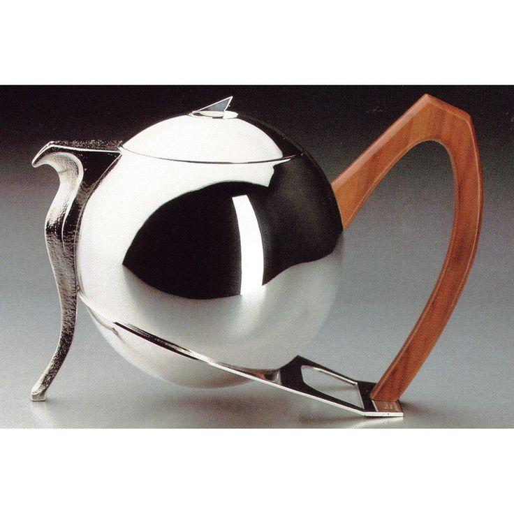 """Teapot """"Contessa Vittoria"""" in silver alloy. Cassetti Design. Modern line"""