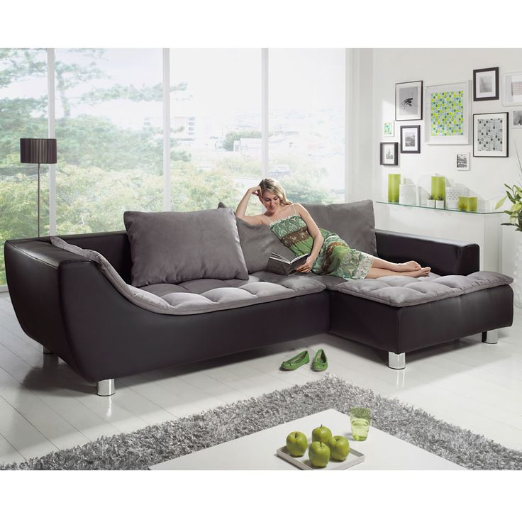 die besten 25 ecksofa leder ideen auf pinterest ecksofa. Black Bedroom Furniture Sets. Home Design Ideas