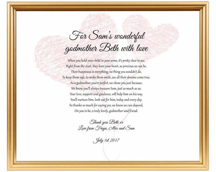 Baptism Gift For Godparents Christening Gift Godparents: Best 25+ Godparent Poems Ideas On Pinterest