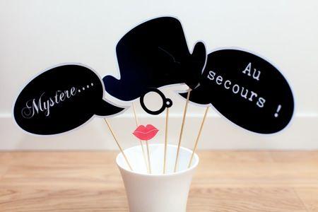 """Kit Soirée enquête """"huis clos"""" - photobooth - murder party - Happy KITS"""