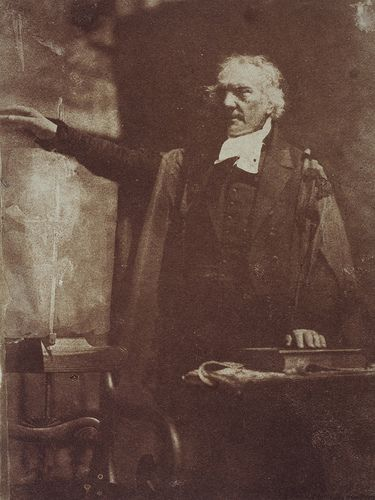 Rev. Thomas Chalmers, 1780 - 1847. Preacher and social reformer (shown preaching). Robert Adamson and/or David Octavius Hill. From the National Galleries of Scotland.