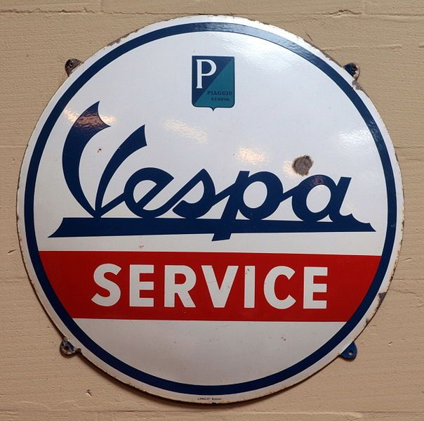 Vespa Enamel advert sign