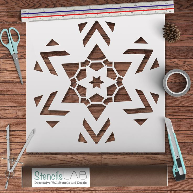 This Geometric unique stencil is perfect for decorating your home! It creates an incredible accent on the wall beside your bed, kitchen, bathroom, or living room. Our stencils are reusable! Pick diffe