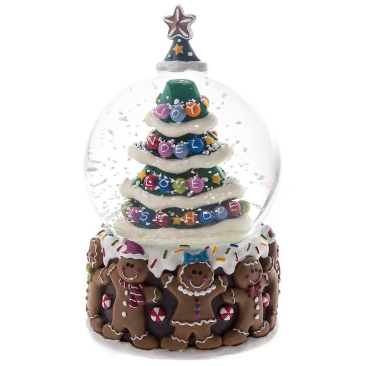 Gisela Graham Christmas Gingerbread Man Christmas Tree Musical Snow ...