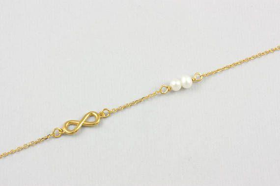 Gold Infinity Bracelet Infinity Bracelet Dainty Gold