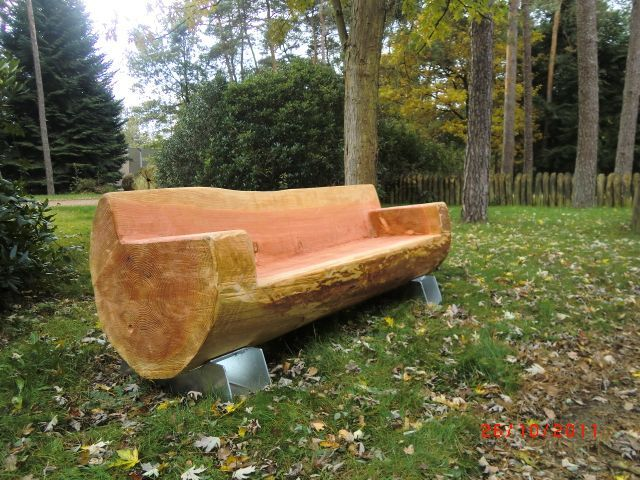 Boomstam Bankboomstam Bank Rustic Outdoor Furniture Wood Bench Outdoor Outdoor Yard Ideas