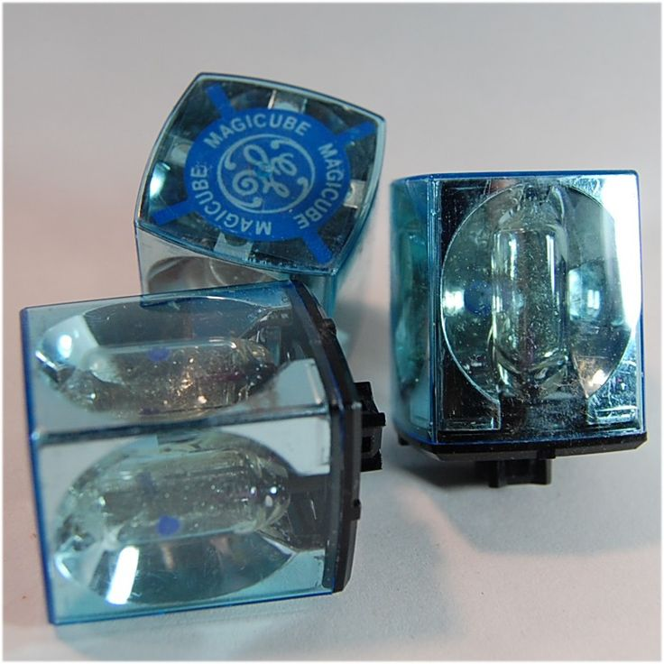 Camera flash bulbs! I remember having to constantly replace these because you could only take 4 pictures. We've come a long way.