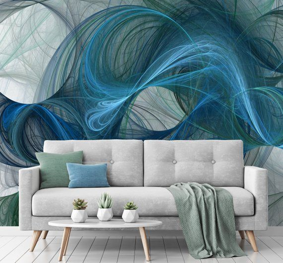 Abstract Repositionable Wallpaper Peel And Stick Wallpaper Etsy Peel And Stick Wallpaper Contemporary Design Fabric Wallpaper