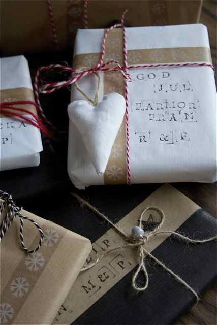 ...Pretty packaging for Christmas pressies. Trädgårdsflow: Jul.  (All Rights Reserved).