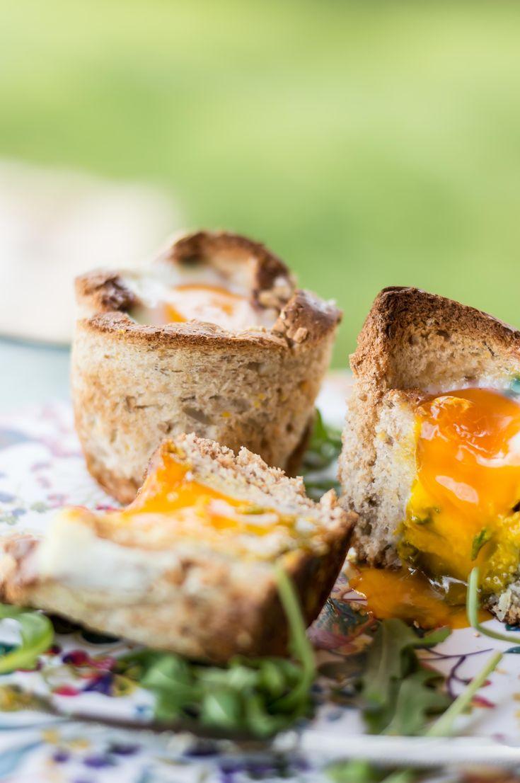 Gooey Egg Toast Cupcakes
