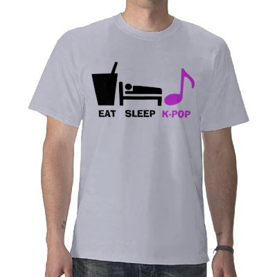 Eat Sleep Kpop T Shirt (light) by XY_Creations (This is my life EVERYDAY, Literally!)