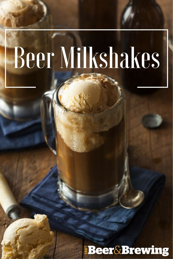5 Craft Beer Milkshake Recipes to kick the heat! From Raspberry to Chocolate, there's a beer-shake for you!