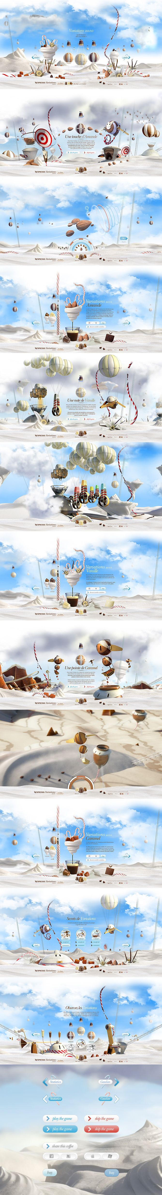 Amazing interactive website~! need to see! http://portfolio.soleilnoir.net/nespresso/variations2010/