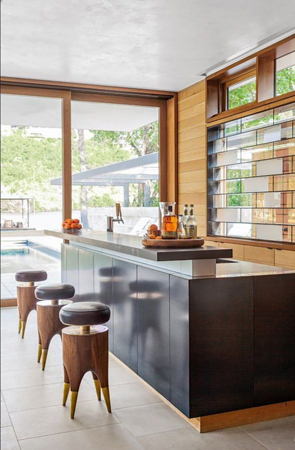 Bar and Game Room in Austin, TX by Vaughn Miller Studio