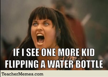 Who else is fed up with the water bottle flipping?!?!