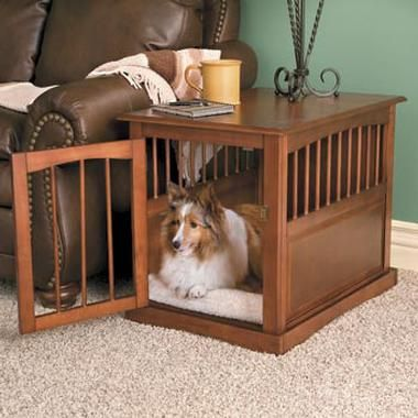 Pet Crate End Tables Although With My Taste In Dogs The End Table